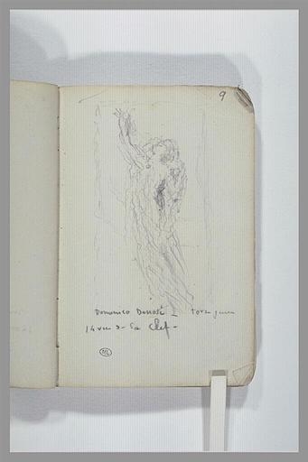 Une figure volante ; note manuscrite_0