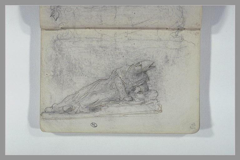 CHAPU Henri Michel Antoine : Socle de monument funéraire, gisant d'un monument funéraire