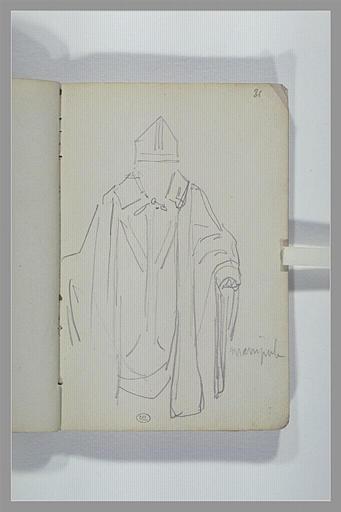Croquis de vêtements sacerdotaux