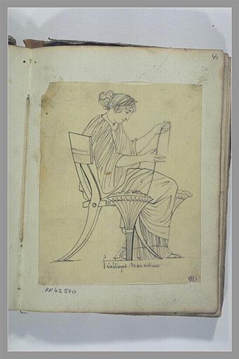 Une femme assise d'après l'antique : Pénélope_0