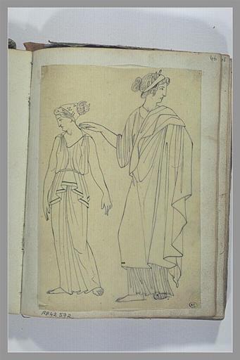YVON Adolphe : Etude de deux figures féminines d'après l'antique