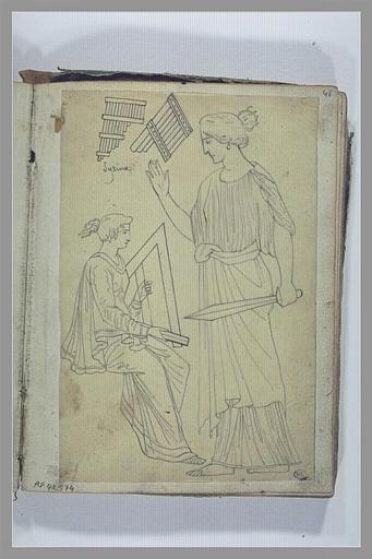 YVON Adolphe : Etude de figures et d'instruments d'après l'antique