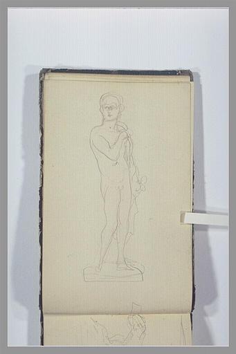 CHAPU Henri Michel Antoine : Statue d'un homme nu
