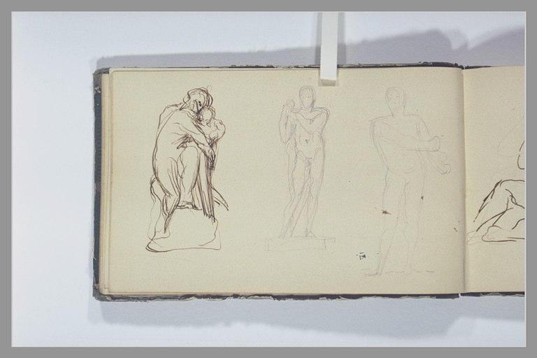 Trois études de statues_0