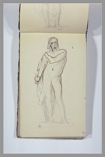 Un homme nu, debout