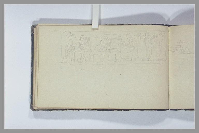 CHAPU Henri Michel Antoine : Une frise antique