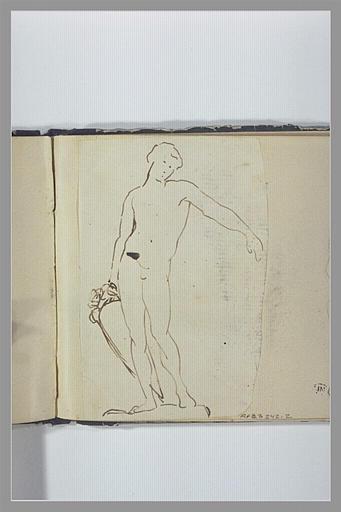 CHAPU Henri Michel Antoine : Un homme nu, debout