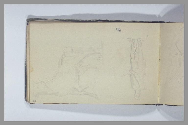 CHAPU Henri Michel Antoine : Un taureau, un guerrier debout