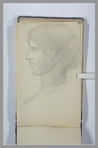 Une tête de femme, vue de profil_0