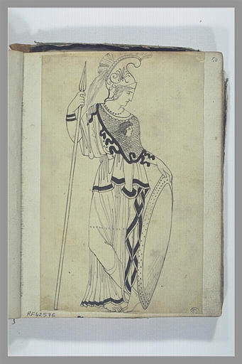 Une figure d'après l'antique : Athéna