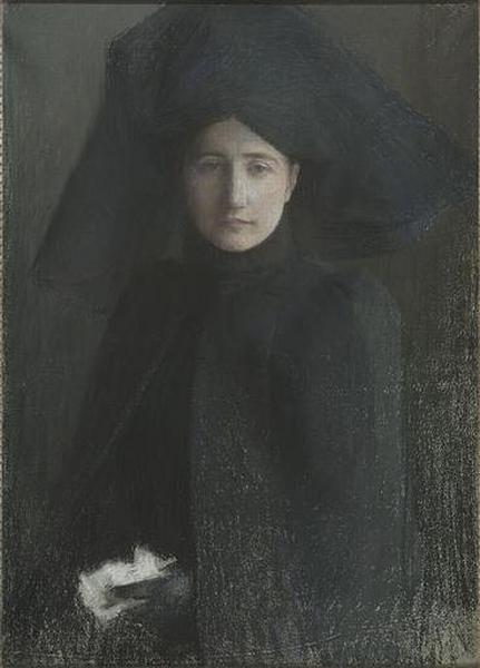 PORTRAIT DE JEUNE FEMME EN DEUIL