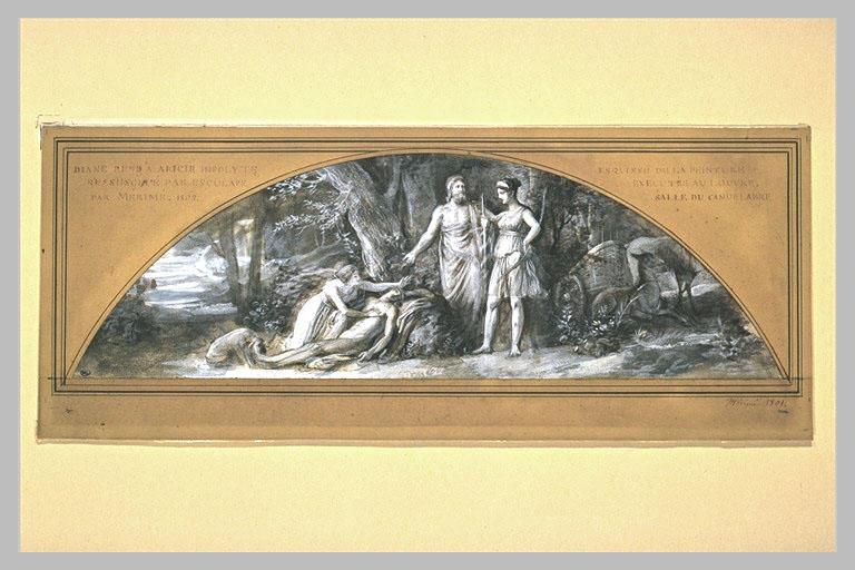 Diane rend à Aricie Hipolyte réssucité par Esculape