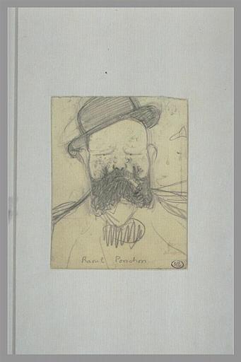 CAPPIELLO Leonetto : Homme barbu, portant un chapeau, vu en buste, de face, Raoul Ponchon (titre inscrit)