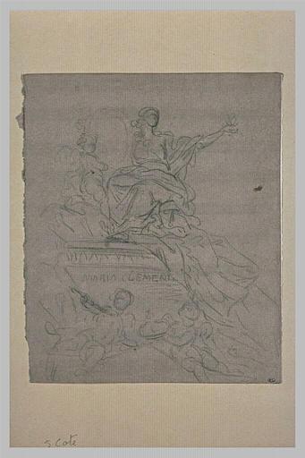 Etude pour le tombeau de Maria Clementina Sobieska, à Saint-Pierre de Rome