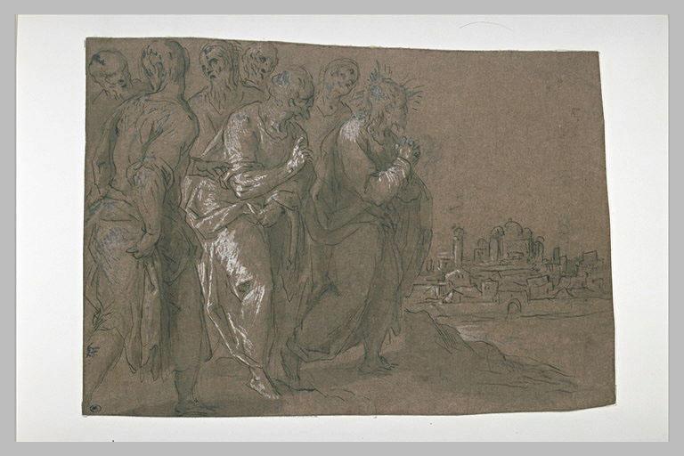 Le Christ et les Apôtres arrivant à Jérusalem