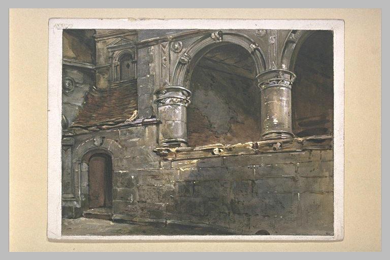 Les arcades du château d'Ango, près de Varengeville