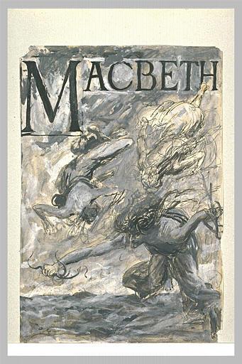 Projet de frontispice pour Macbeth