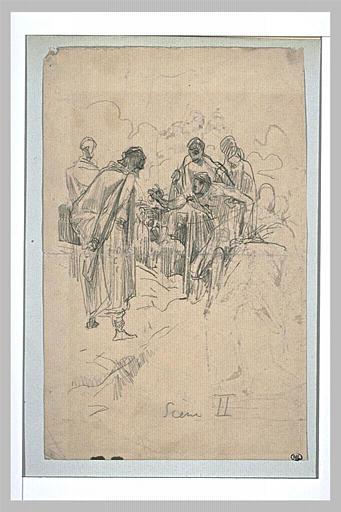 Projet d'illustration pour Macbeth : récit du sergent blessé