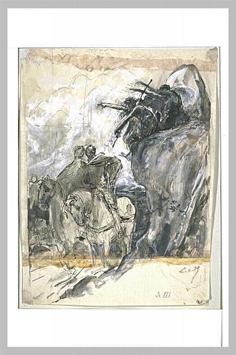 Projet d'illustration pour Macbeth : les trois sorcières