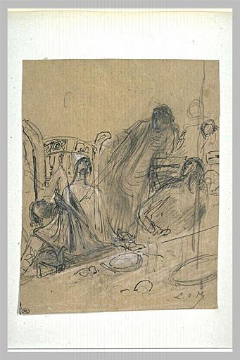 Projet d'illustration pour Macbeth : apparition du spectre à Macbeth