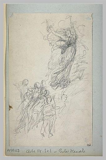 Projet d'illustration pour Macbeth : Hécate et les sorcières