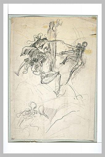Projet d'illustration pour Macbeth : les sorcières dansant_0
