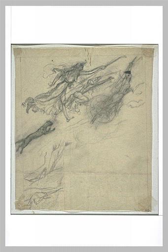 Projet d'illustration pour Macbeth : les sorcières volent sur la lande_0
