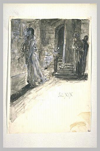 Projet d'illustration pour Macbeth : Lady Macbeth somnambule