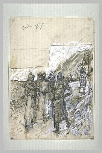 Projet d'illustration pour Macbeth. Menteith, Caithness, Angus et Lennox