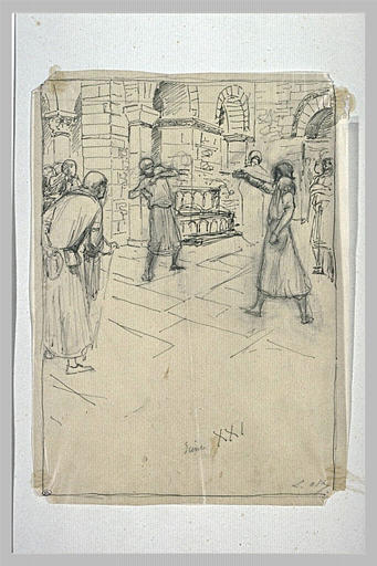 Projet d'illustration pour Macbeth : Macbeth chasse le serviteur_0