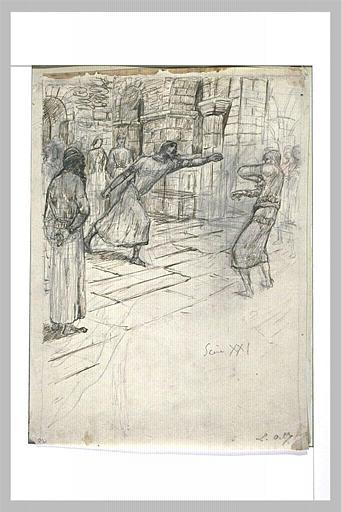 Projet d'illustration pour Macbeth : Macbeth chasse le serviteur