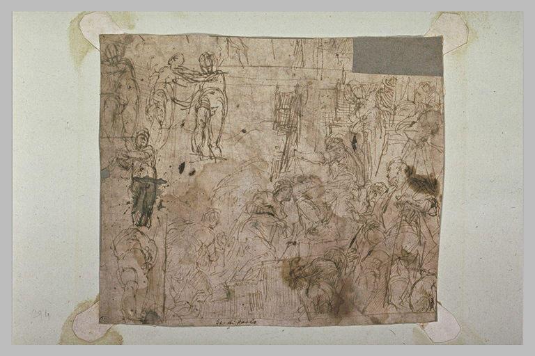 Etudes pour le Triomphe de Mardochée et le Couronnement d'Esther
