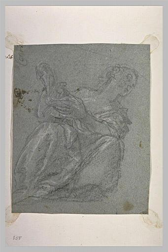 Femme assise à terre : la Chasteté