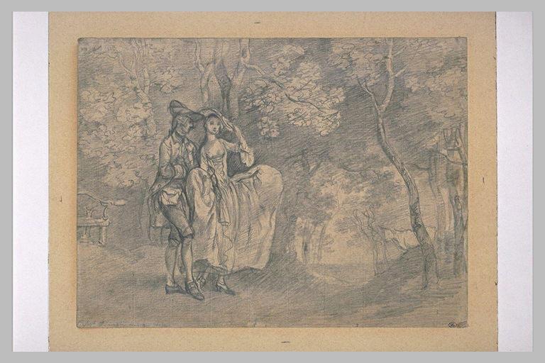 Portrait présumé de l'artiste et de sa femme, dans un paysage