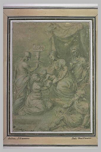 La Vierge à l'Enfant avec saint Jean, sainte Anne et deux autres figures