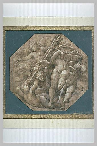 Cinq anges portant les instruments de la Passion