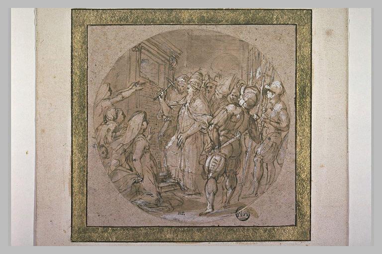 Le Pape Jules III ouvrant la Porta Santa