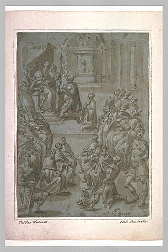 Sixte V confie l'étendard portant la Croix à Marcantonio Colonna
