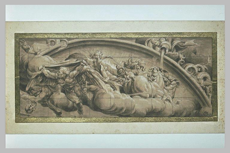 Apollon sur le Char et des signes du Zodiaque : allégorie de l'Hiver