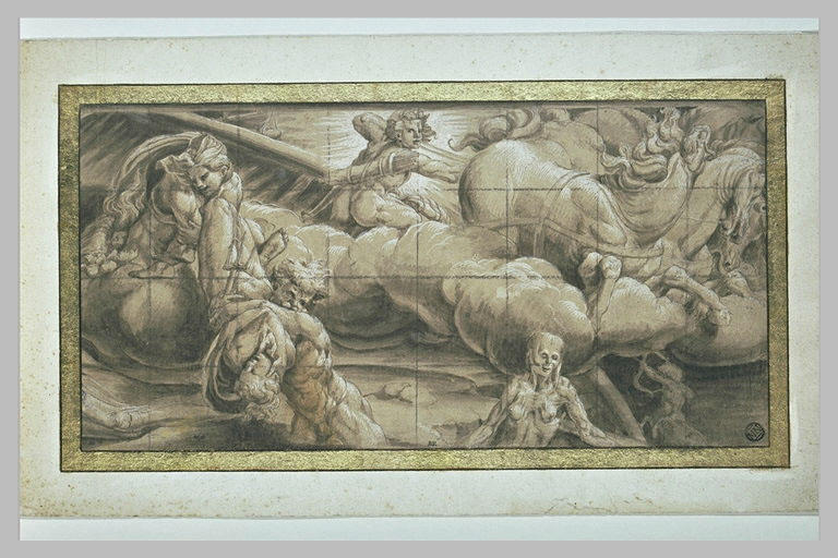 Apollon sur le Char et des signes du Zodiaque : allégorie de l'Automne