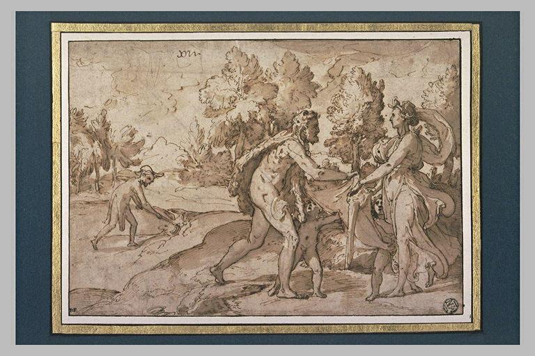 Hercule donnant à Iolé un vêtement teint avec la pourpre