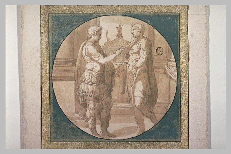 Deux guerriers romains conversant