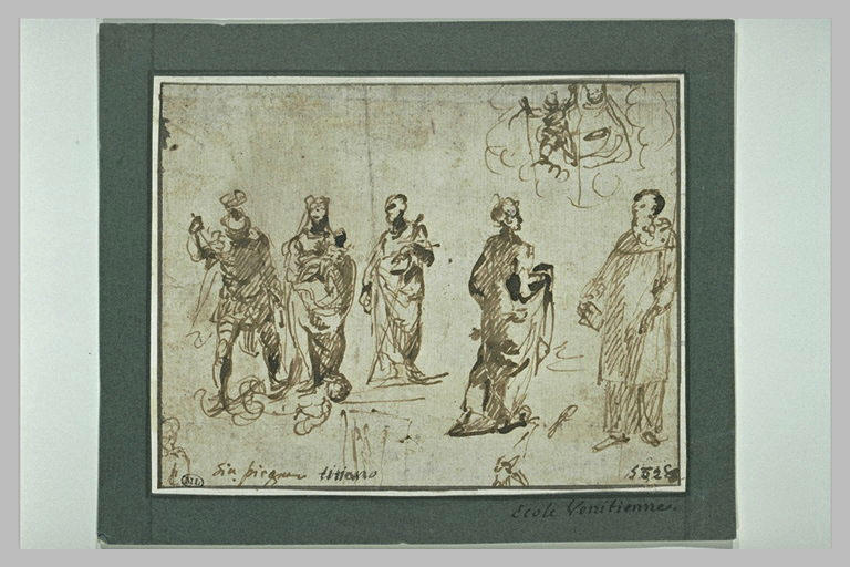 Etude de différentes figures debout dont celle de saint Paul