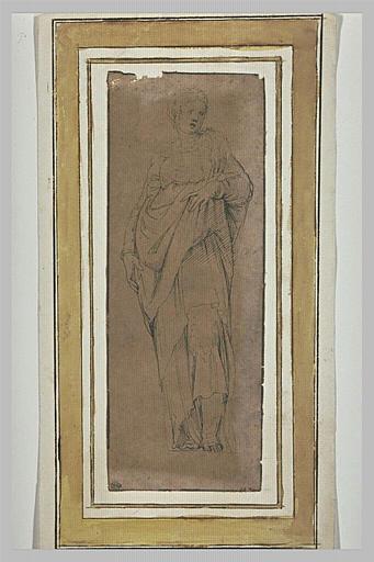 Femme drapée debout : sainte Catherine d'Alexandrie