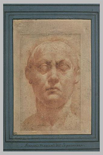 Etude d'une buste d'homme, d'après l'antique (?)