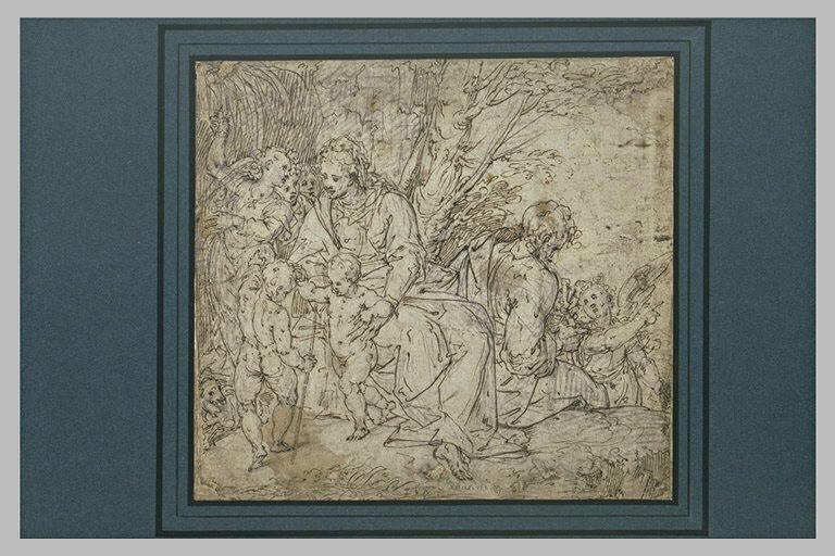 Repos de la Sainte Famille, avec saint Jean-Baptiste