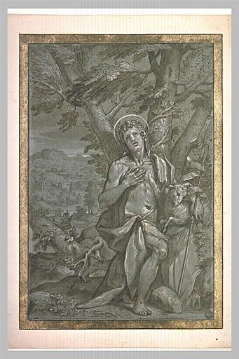 Saint Jean-Baptiste au pied d'un arbre
