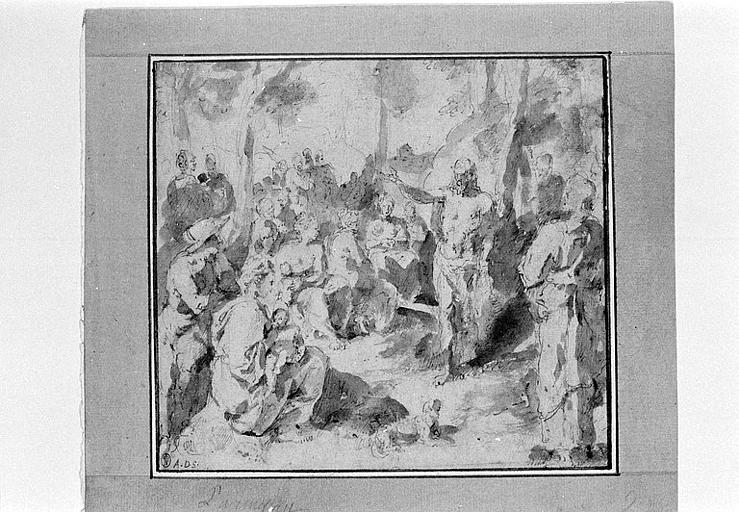Saint Jean-Baptiste prêchant