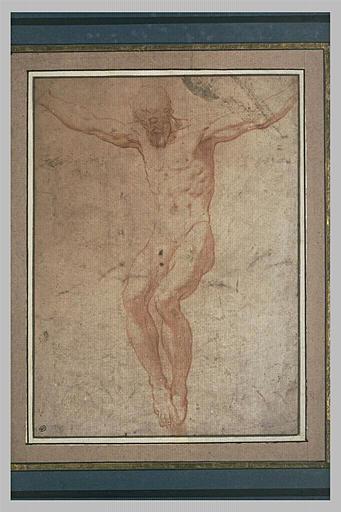Homme crucifié : le Christ ou un larron en croix