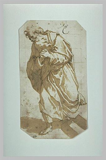 Un apôtre, les mains jointes